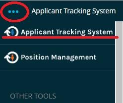 Screenshot: Module View > Applicant Tracking System