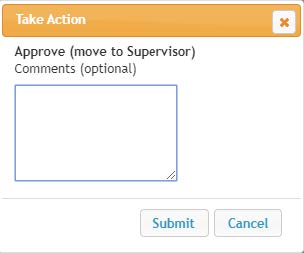 Screenshot: Take Action comments