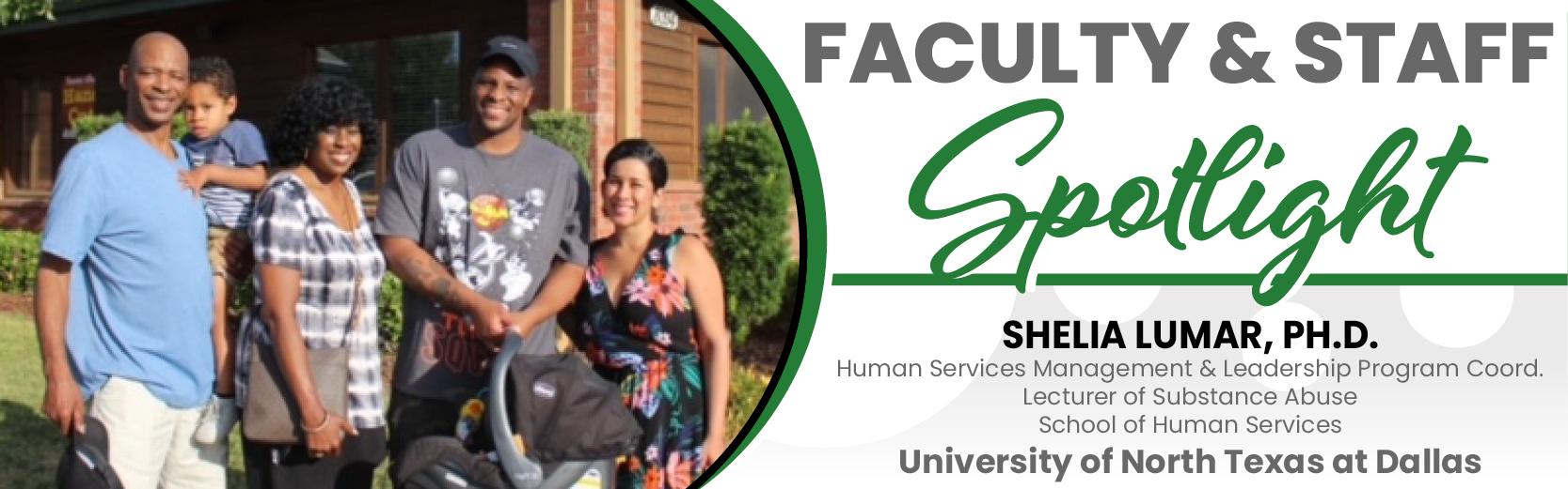 Faculty & Staff Spotlight: Shelia Lumar, Ph.D, UNT Dallas