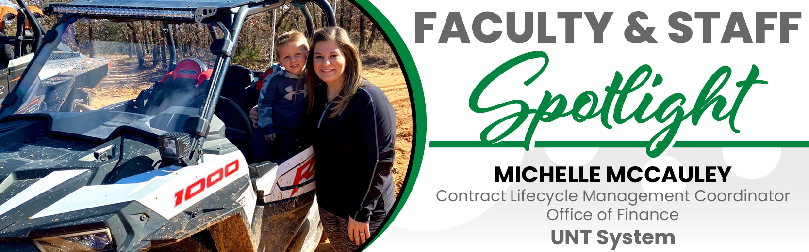 Faculty & Staff Spotlight: Michelle McCauley, Contract Lifecycle Management Coordinator, Office of Finance, UNT System