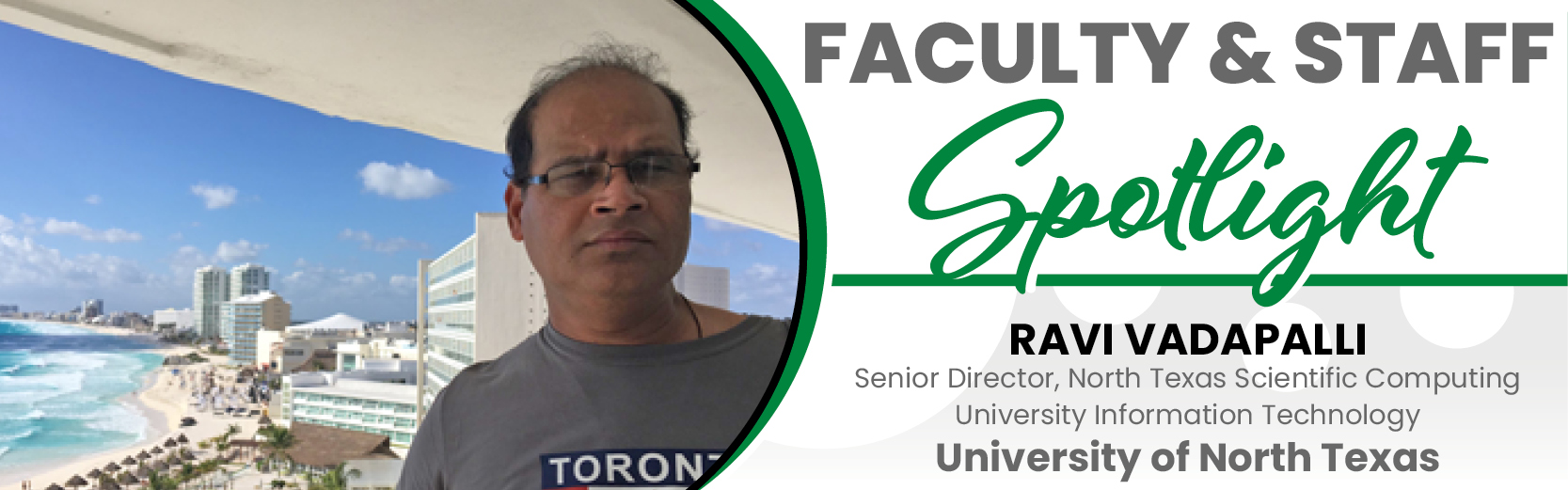 Faculty & Staff Spotlight: Ravi Vadapalli