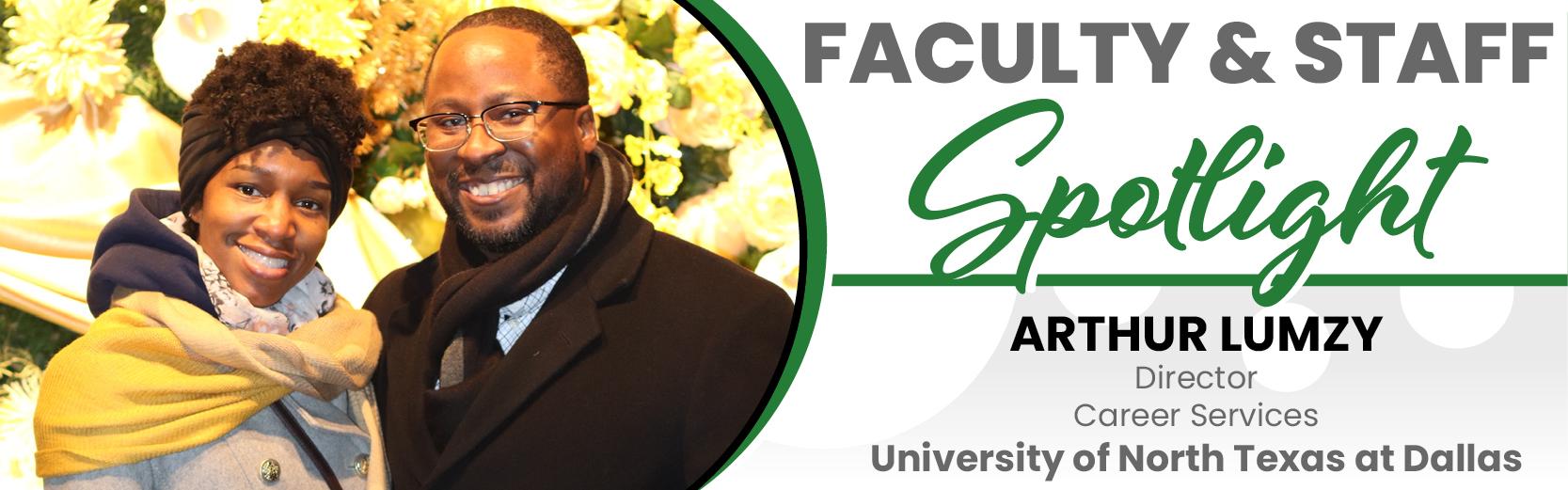 Arthur Lumzy, Director of Career Services, UNT Dallas